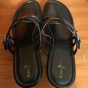 Leather cole haan Nike heel sandals